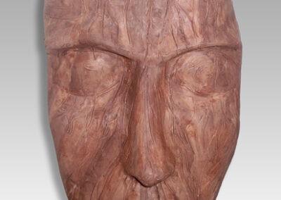 Máscara con pátina de madera rústica